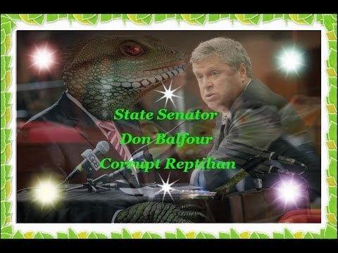 Don Balfour (politician) Senator Don Balfour Corrupt Reptilian Politician YouTube