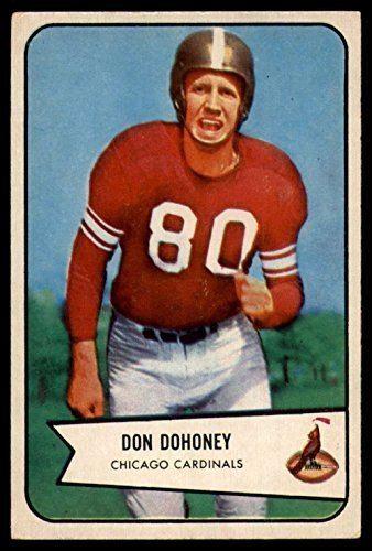 Don Dohoney Amazoncom Football NFL 1954 Bowman 24 Don Dohoney EX Excellent