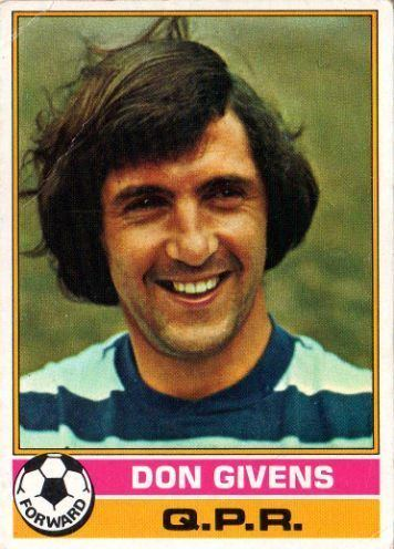 Don Givens QUEENS PARK RANGERS Don Givens 231 TOPPS 1977 Red Back