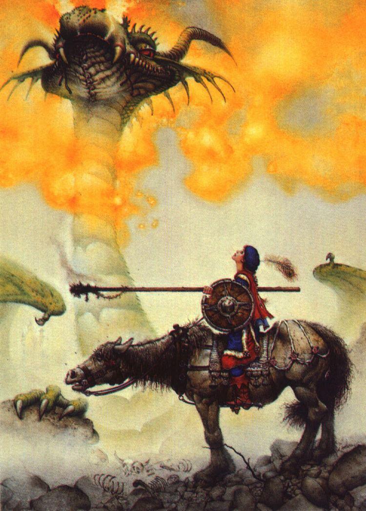 Don Maitz The Fantasy Dragon Art Pics by Don MAITZ A page from