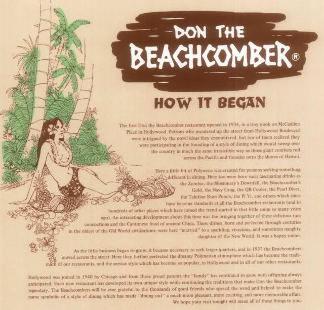 Don the Beachcomber Don the Beachcomber The Locations Updated 012417 Tiki Central