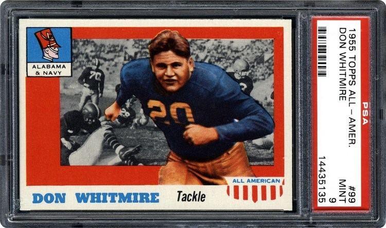 Don Whitmire 1955 Topps AllAmerican Don Whitmire PSA CardFacts