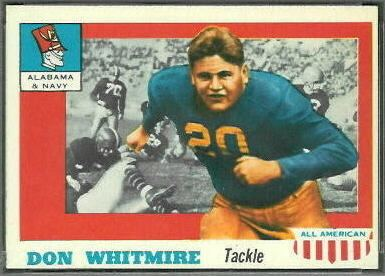 Don Whitmire Don Whitmire 1955 Topps AllAmerican 99 Vintage Football Card