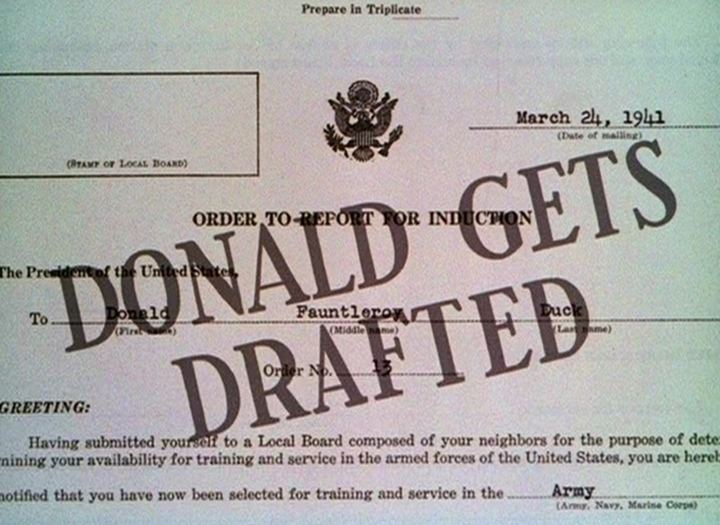 Donald Gets Drafted Donald Gets Drafted 1942 The Internet Animation Database