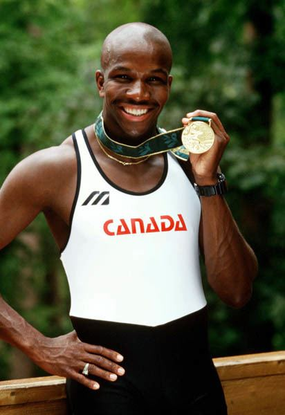 Donovan Bailey ARCHIVED Image Display Canadian Olympians Library