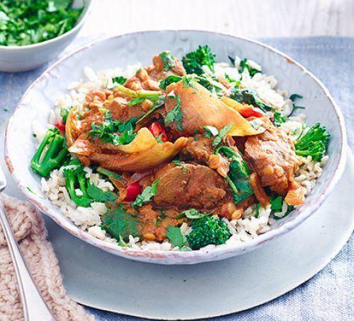 Dopiaza Lamb dopiaza with broccoli rice BBC Good Food