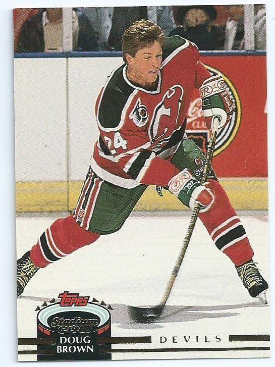 Doug Brown (ice hockey) NEW JERSEY DEVILS Doug Brown 331 tOPPS 199293 Stadium Club NHL