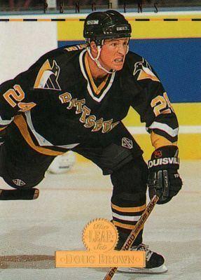 Doug Brown (ice hockey) PITTSBURGH PENGUINS Doug Brown 116 The Leaf Set 1994 Donruss NHL