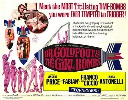 Dr. Goldfoot and the Girl Bombs DR GOLDFOOT AND THE GIRL BOMBS 1966 Movie on DVD Fabian DR