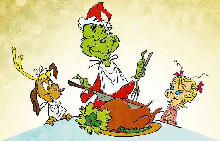 How the Grinch Stole Christmas! (TV special) movie scenes A happy ending to the movie as the Grinch carves the roast beast
