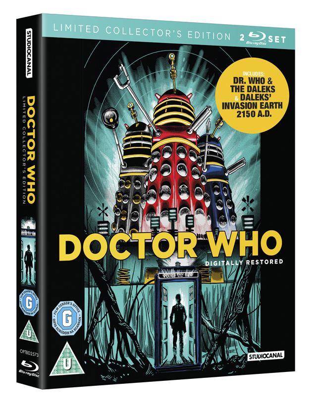 Dr. Who and the Daleks Doctor Who and the Daleks print now a BLURAY cover Nakatomi Inc