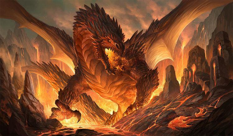 A brown dragon