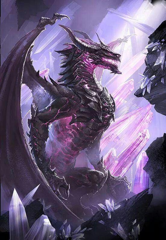 A violet dragon