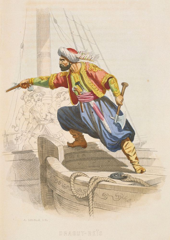 Dragut Dragut Reis the famous Barbary corsair prepares to board