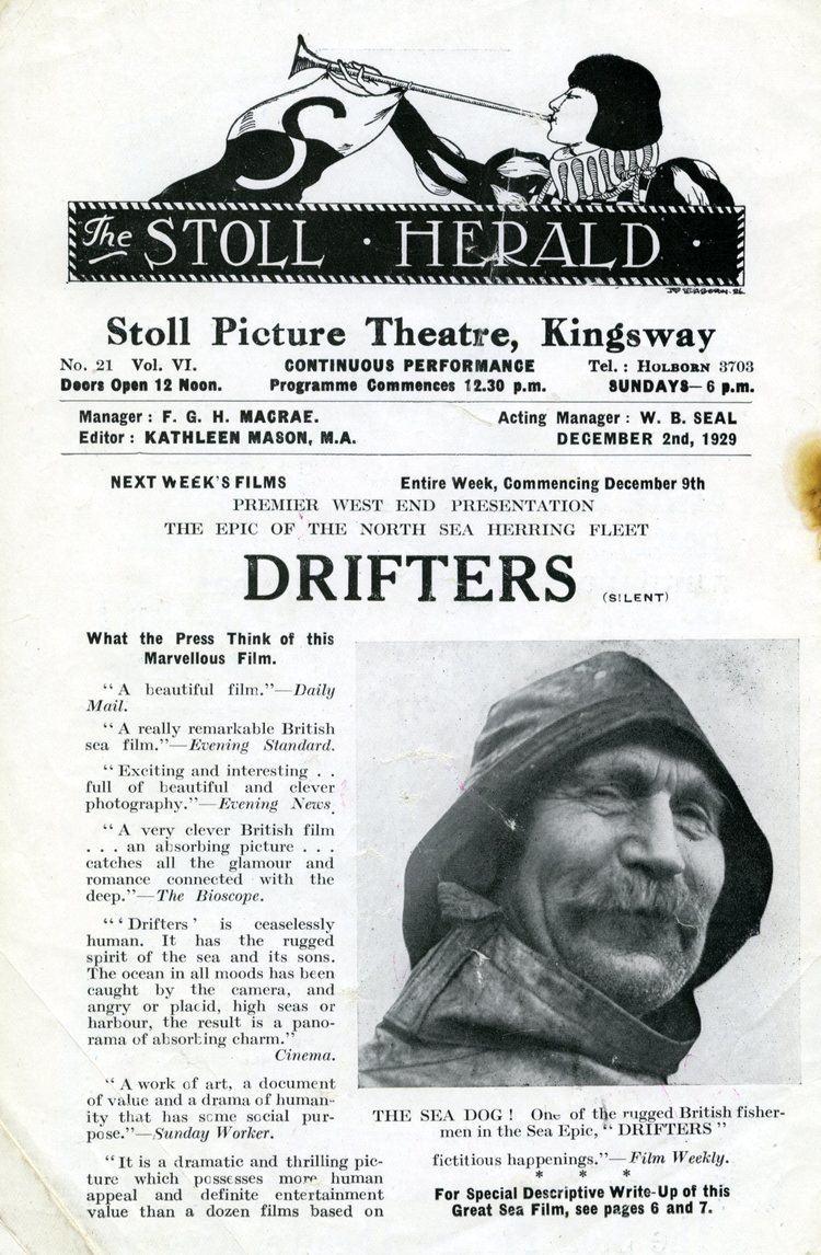 Drifters (1929 film) Drifters at the Hippodrome Silent Film Festival University of
