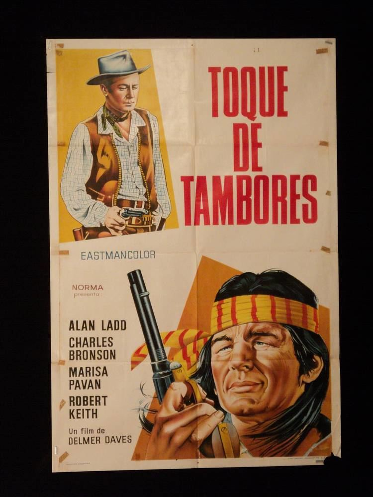 Drum Beat DRUM BEAT ALAN LADD BRONSON ARGENTINE 1sh MOVIE POSTER 1954
