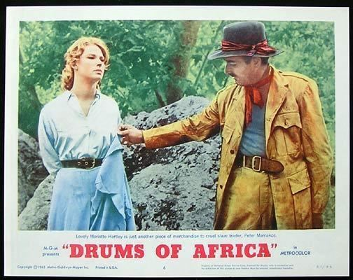 Drums of Africa DRUMS OF AFRICA 1963 Lobby card 6 Frankie Avalon Lloyd Bochner
