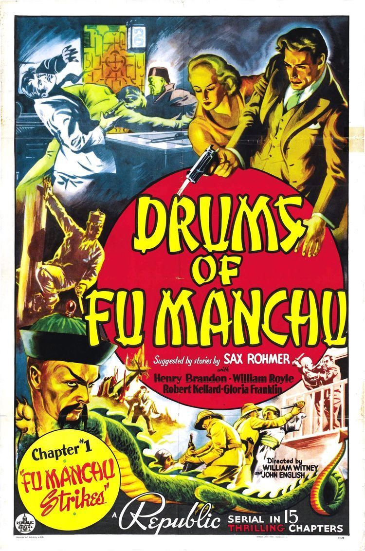 Drums of Fu Manchu Poster for Drums of Fu Manchu 1940 USA Wrong Side of the Art