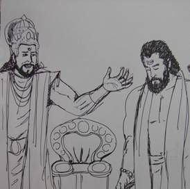 Drupada Lotus of SaraswatiBlog Drupada and Dronacharya