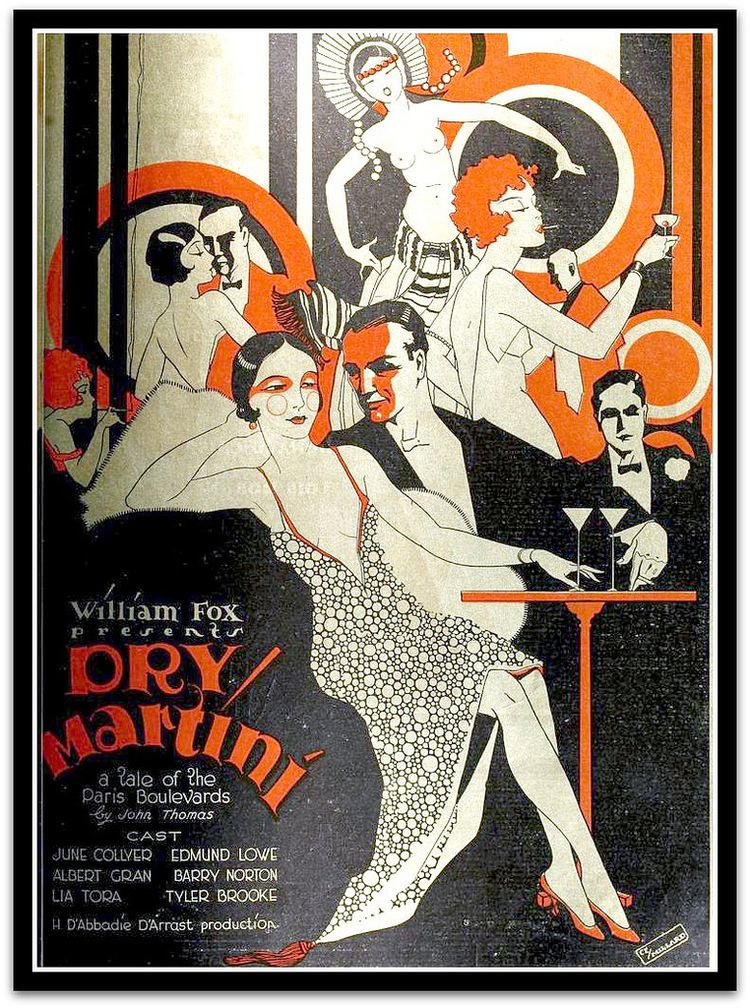 Dry Martini (1928 film) Vintage Art Deco Advert for Dry Martini 1928 film advert v Flickr