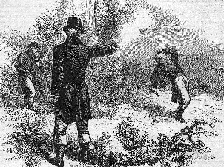 Duel DiBACCO When the duel settled political differences Washington Times