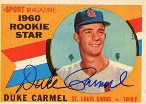 Duke Carmel Duke Carmel Baseball Stats by Baseball Almanac