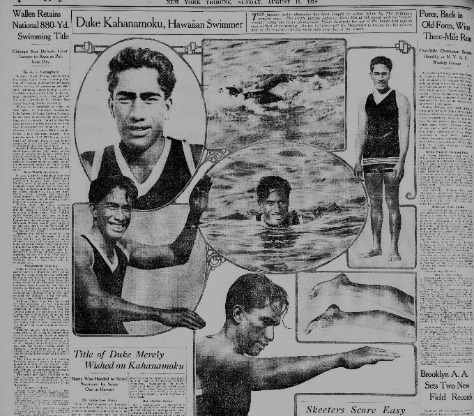 Duke Kahanamoku Duke Kahanamoku in US Newspapers Hawaii Digital Newspaper Project