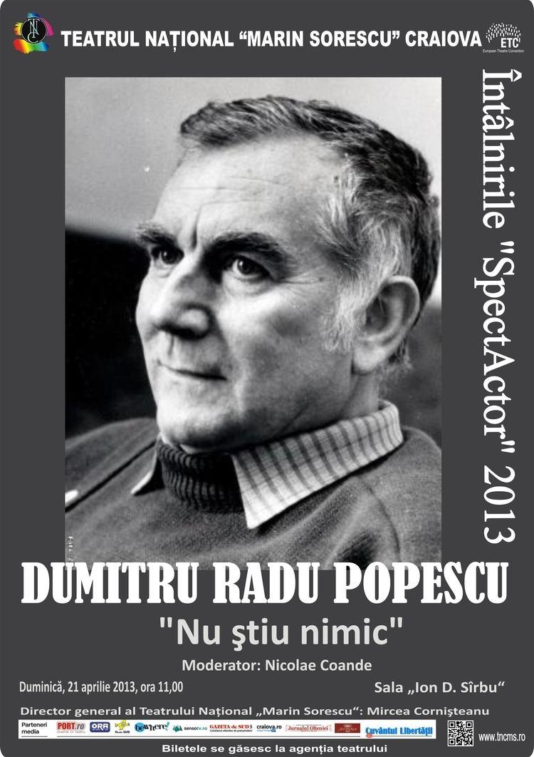 Dumitru Radu Popescu Scriitorul Dumitru Radu Popescu invitat la ntlnirile