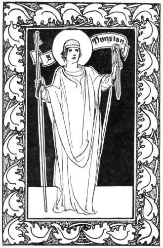 Dunstan The Little Lives of the Saints by Percy Dearmer 1904