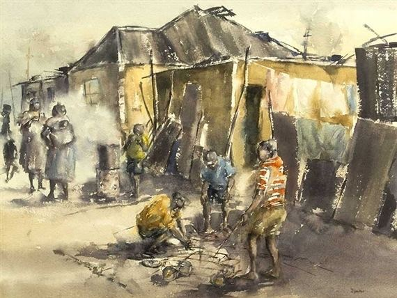 Durant Sihlali Artworks of Durant Sihlali South African 1935