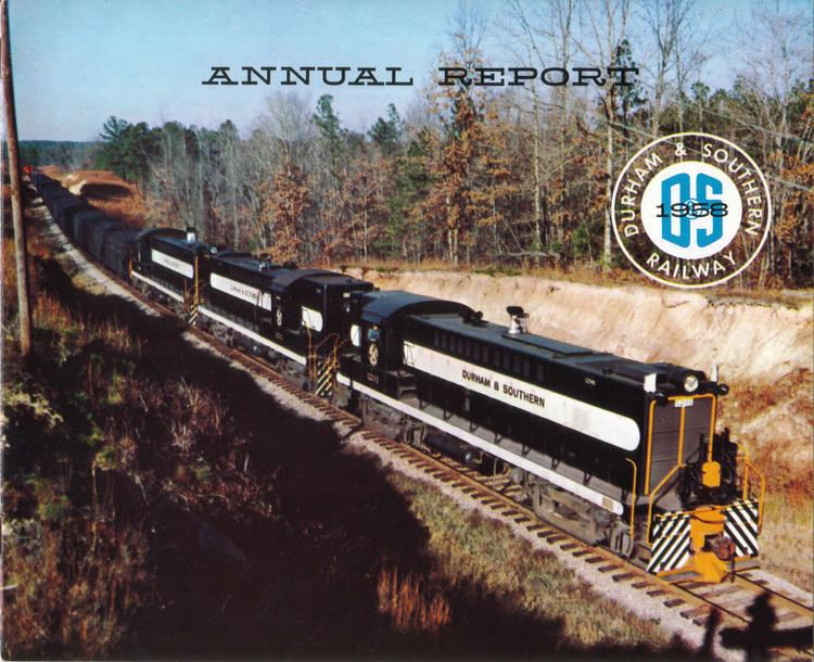 Durham and Southern Railway wwwdurhamsoutherncomimagesDSAnnualReport1958jpg