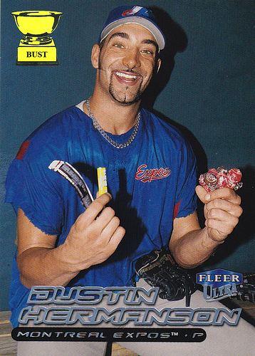 Dustin Hermanson Baseball Card Bust Dustin Hermanson 2000 Fleer Ultra