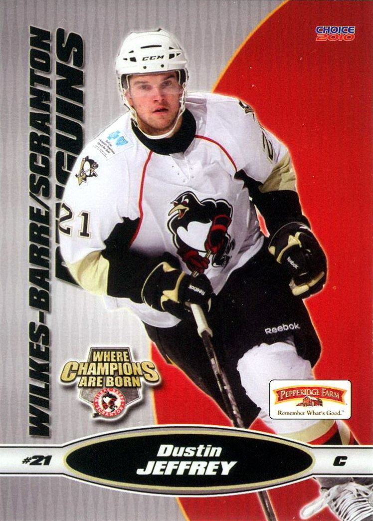 Dustin Jeffrey Dustin Jeffrey Players cards since 2008 2012 penguinshockey