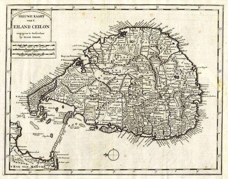 Dutch Ceylon tirion1740