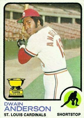 Dwain Anderson Baseball Card Database Dwain Anderson 1973