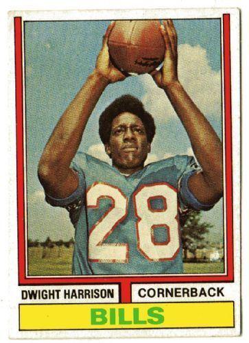 Dwight Harrison BUFFALO BILLS Dwight Harrison 399 TOPPS 1974 NFL American Football