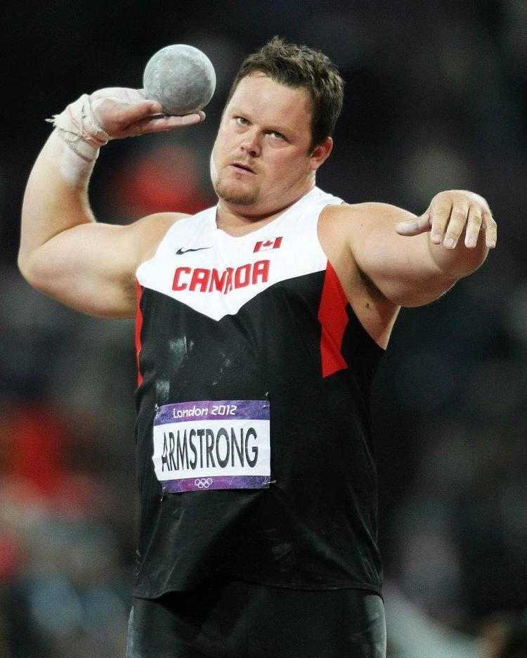 Dylan Armstrong Dylan Armstrong wins shot put in Germany on his road to