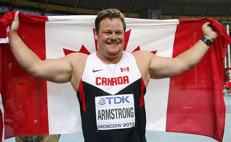 Dylan Armstrong Dylan Armstrong wins bronze in shot put at world athletics