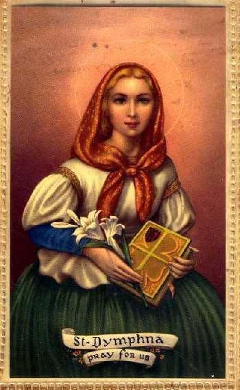 Dymphna Saints Preserve Us Saint Dymphna