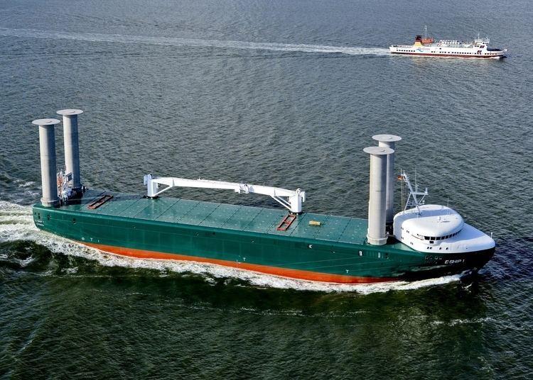 E-Ship 1 The Motorship EShip 1 passes Kiel Canal for first time