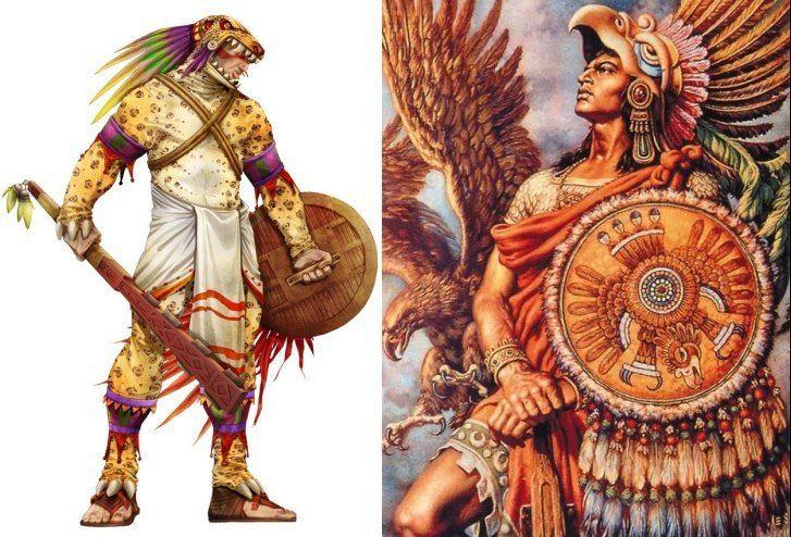 Eagle warrior Fearsome Aztec Eagle Warriors And Jaguar Warriors Of Mesoamerica