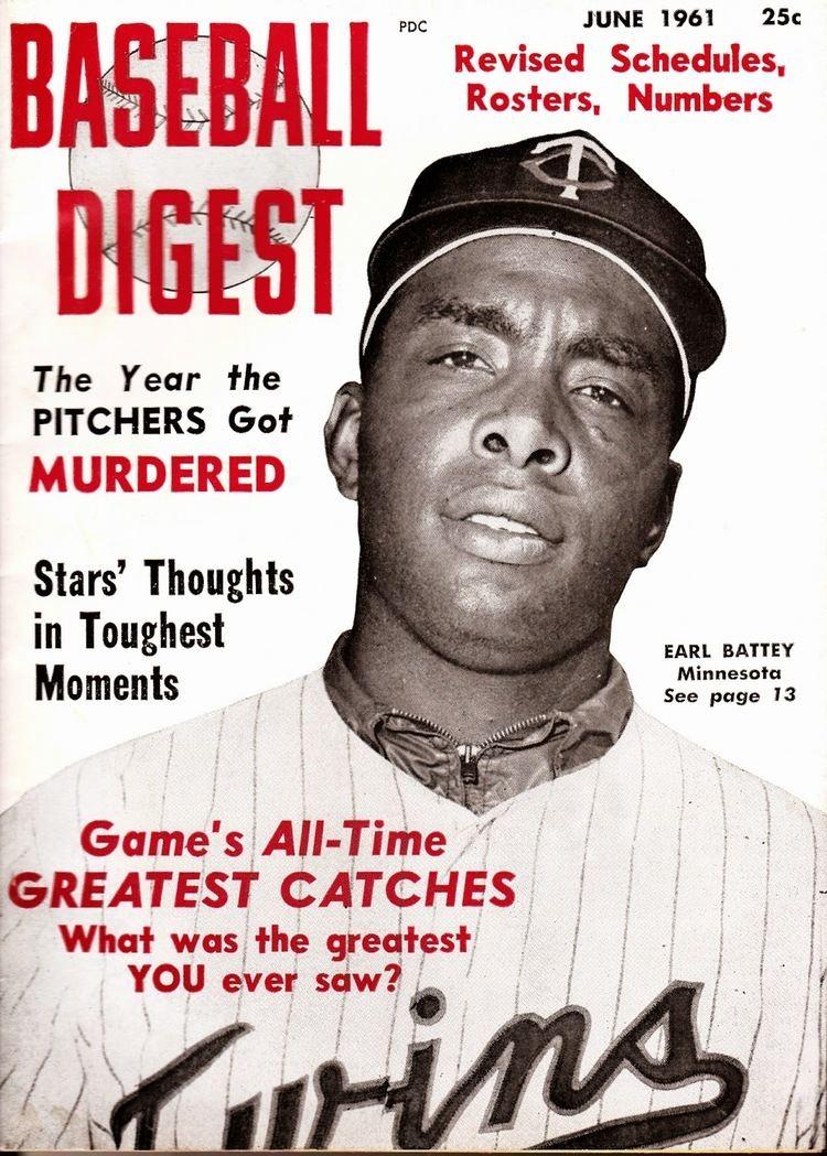 Earl Battey Classic Minnesota Twins Earl Battey 1961 Baseball Digest Feature