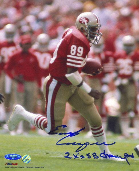 Earl Cooper Earl Cooper San Francisco 49ers Autographed 8x10