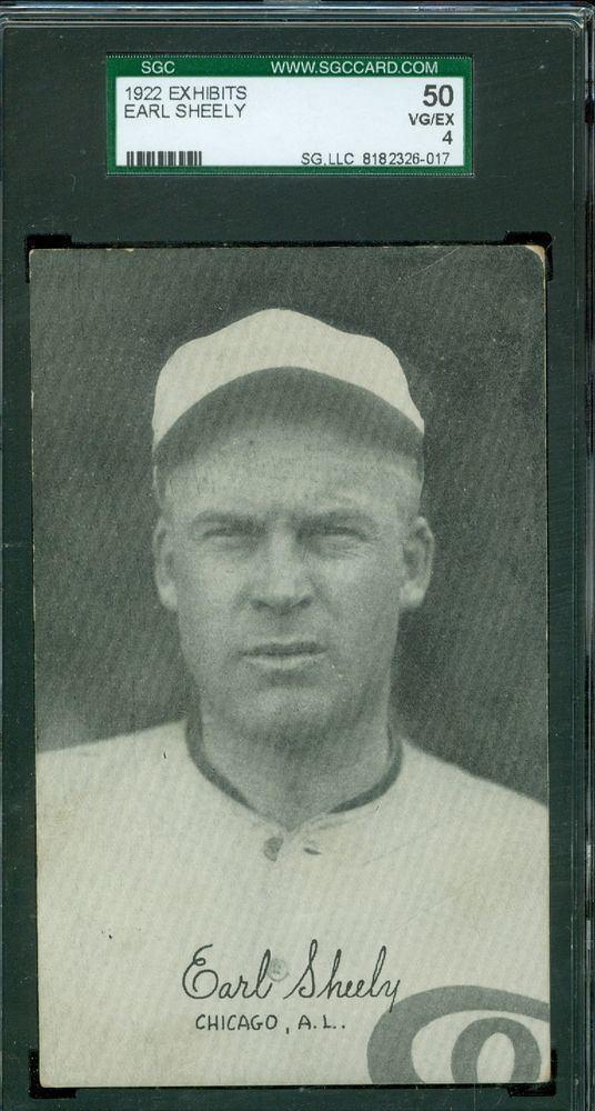 Earl Sheely 1922 Exhibit Arcade Card Earl Sheely Chicago White Sox SGC 50