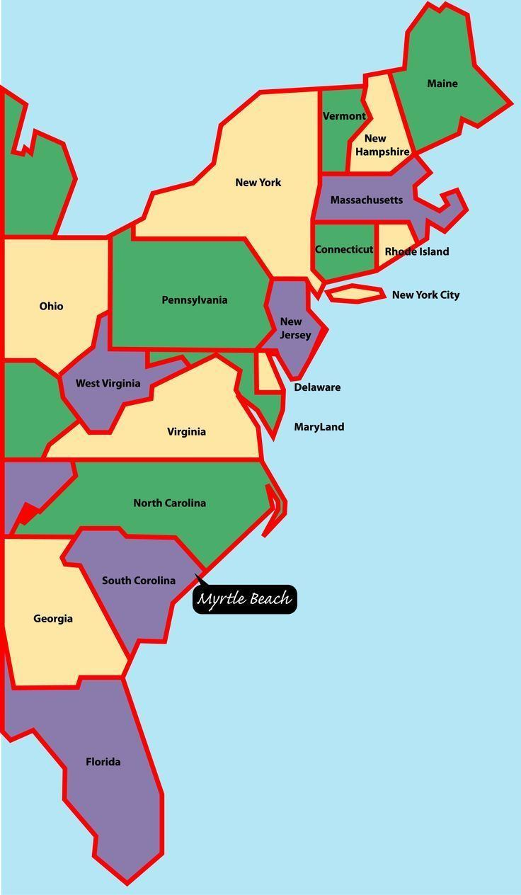 East Coast of the United States Map Usa East Coast States dadhtk