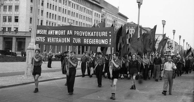 East Germany Soldiers Respond to Uprising in East Germany