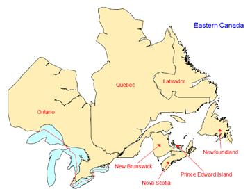 Eastern Canada Map Eastern Canada Provinces deiutk