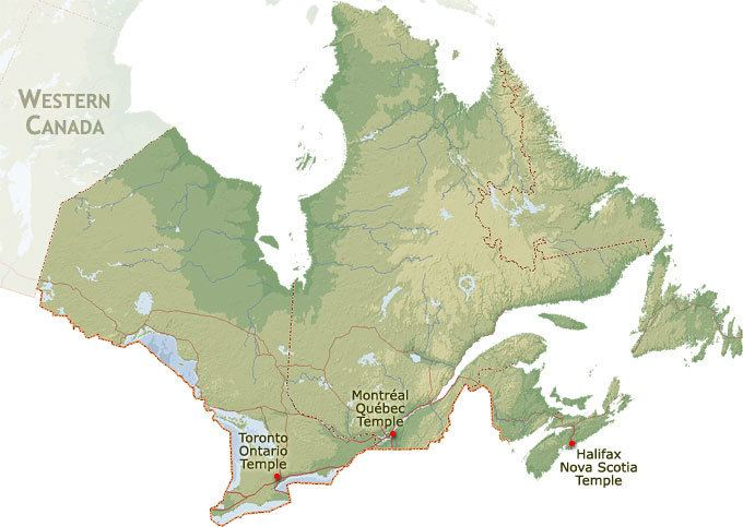 Eastern Canada LDS Mormon Temples Geographical Region Eastern Canada