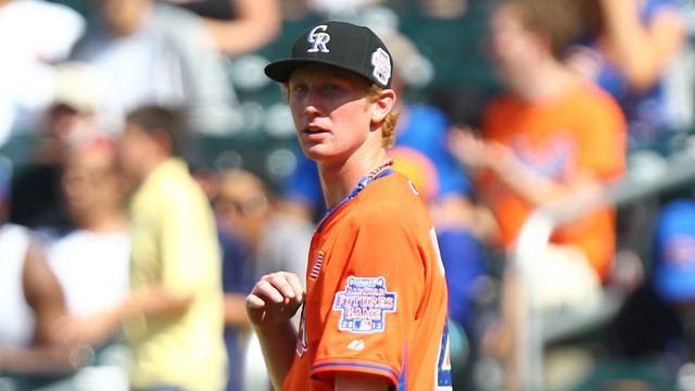 Eddie Butler (baseball) Rockies prospect Eddie Butler pitched a scoreless inning