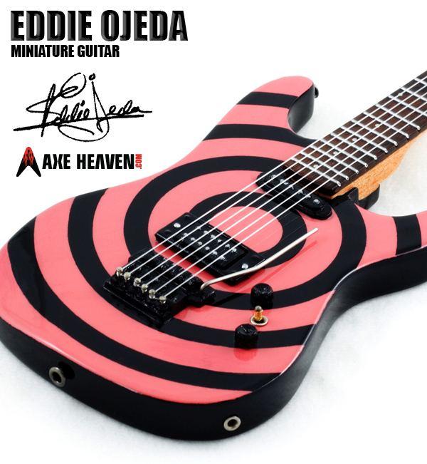 Eddie Ojeda Eddie Ojeda BullseyeTwisted Sister Miniature Guitar Replica
